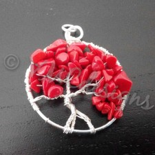 Tree of life, silver and Coral