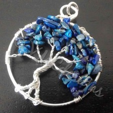 Tree of life, silver and Sodalite