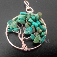 Tree of life, rose gold and Turquoise