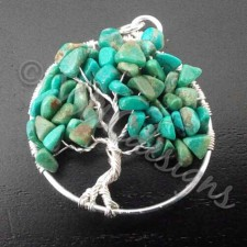Tree of life, silver and Turquoise