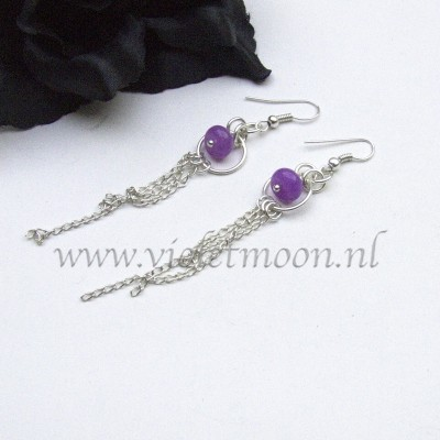 Kunzite earrings from violetmoon.nl