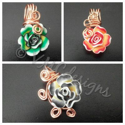 aromatherapy flower pendants