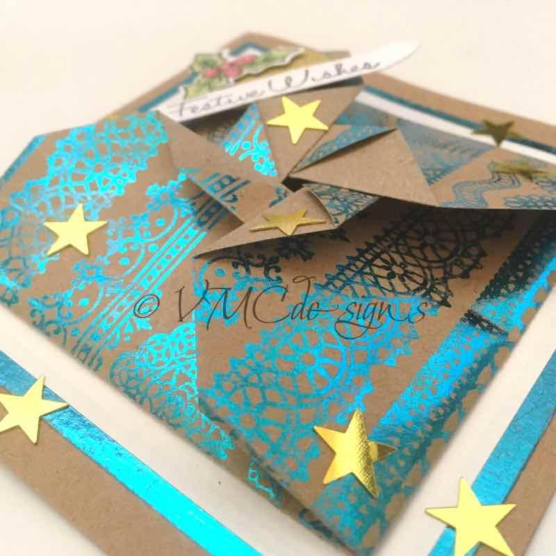 An origami pinwheel card