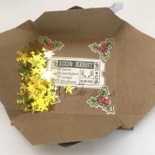 origami pinwheel card inside