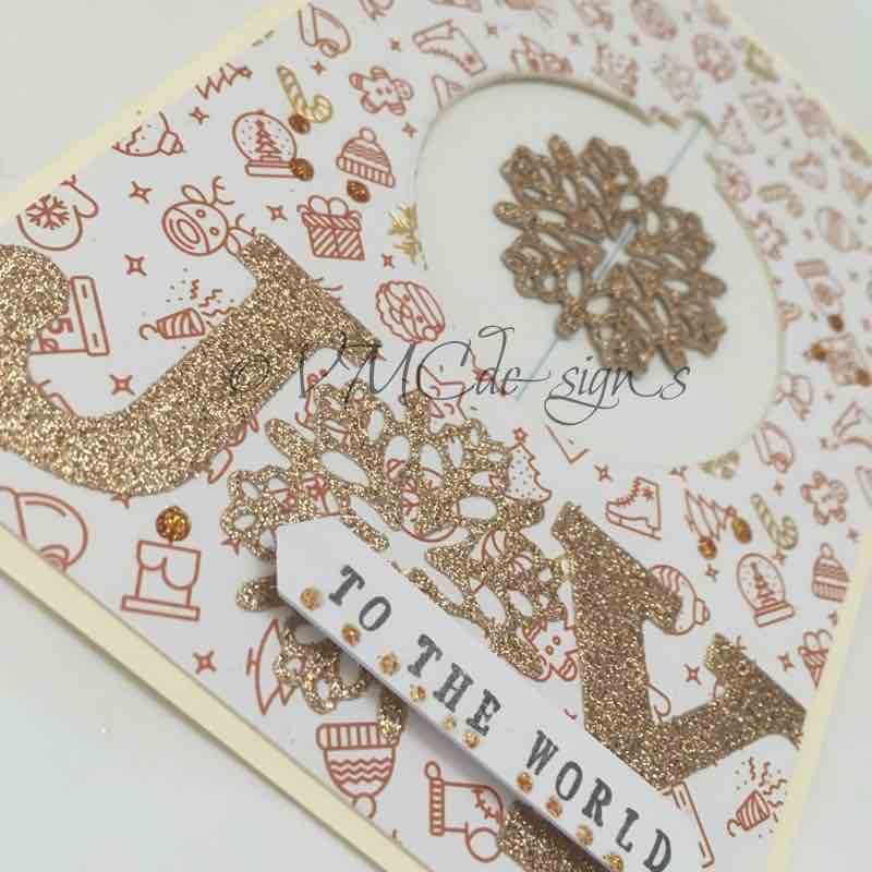 glitter spinner card