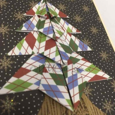 An origami christmas tree card