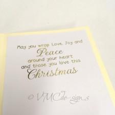 origami christmas tree card inlay