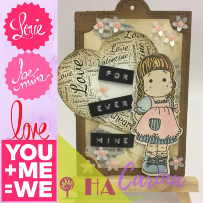 Lovely and sweet, word art tag