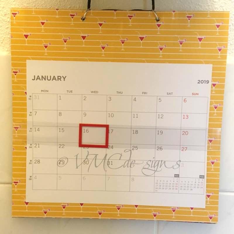 diy calendar - vmcdesigns.nl
