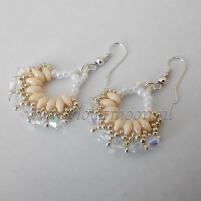 vintage fan earrings from violetmoon.nl
